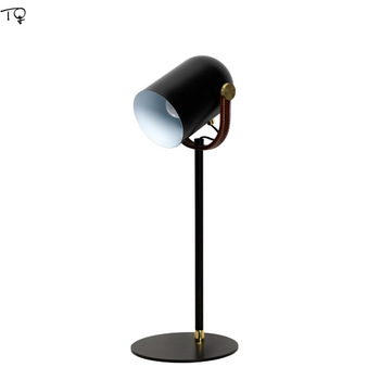 Nordic Concise Desk Lamps LED Leather Modern Reading Study Learning Work Office Bedside Creative Simple Lamps Table Luminaire