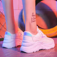 Women Shoes White Sneakers Women Korean Style Vulcanize Shoes Platform Chunky Sneakers Casual Dad Shoes Basket Femme Krasovki