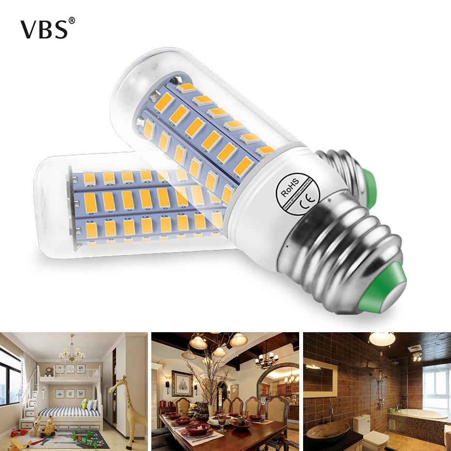 220V E27 E14 Warm White  Cold White 450 Lm 1-3.7W  Modern Led Corn Light For Home Living Room Decoration And Daily Lighting  A1