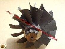 Hx55 turbo parte o eixo da turbina e o tamanho 80mm * 86.3mm da roda, 12 lâminas, fornecedor pelas peças do turbocompressor aaa
