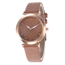 Elegant diamond luxury fashion women watches small dial ladies wristwatches casual female quartz dress clock with leather band