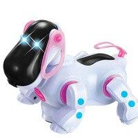 Robot Dog Lovely Music Shine Intelligent Electronic Robot Walking Dog Puppy Action Toy Pet Kids Baby