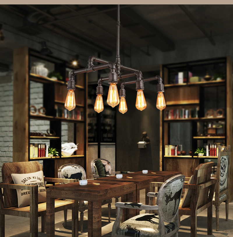 Retro nostalgia Sitting room Restarant Bar creative Lamps LOFT American industrial  corridor stairs The pipe wall lamp