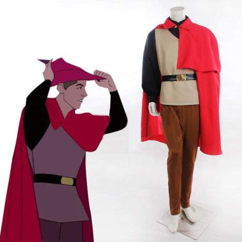 Adult Sleeping Beauty Prince Philip Costume Philip Outfits Cosplay Prince outfits with cape any size