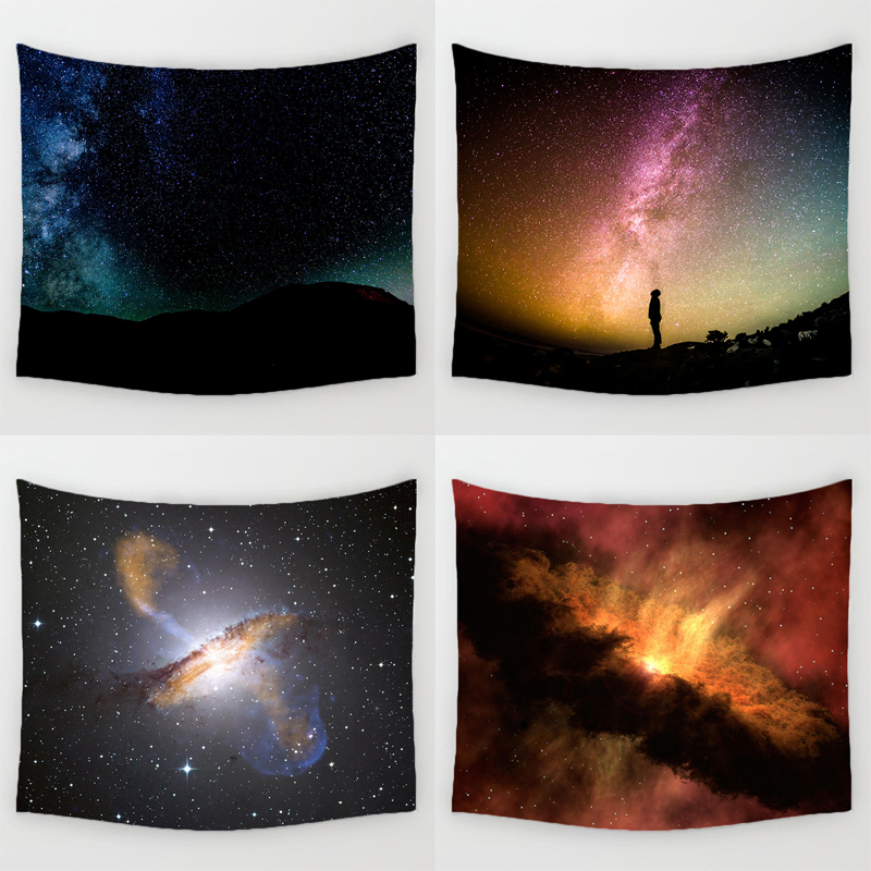 Comwarm mystic nacht sternen muster wandbehang wand graceful universum nebula langlebig polyester tapisserie yoga teppich wohnkultur