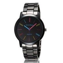 En acier inoxydable bande montre femmes robe colorée montres marque mesdames élégance montre Charms Relogio Feminino luxe genève montre