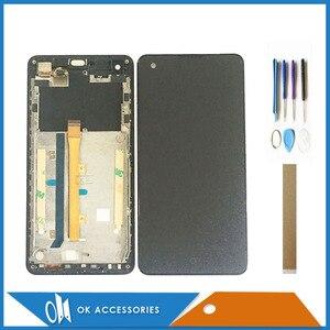 Image 1 - Com Frame Para Highscreen Omega Prime S Display LCD Com Tela de Toque Digitador Assembléia Alta Qualidade Com Ferramentas Fita