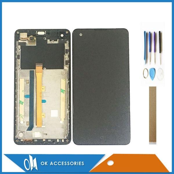 Com Frame Para Highscreen Omega Prime S Display LCD Com Tela de Toque Digitador Assembléia Alta Qualidade Com Ferramentas Fita