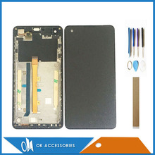 With Frame For Highscreen Omega Prime S LCD Display With Touch Screen Digitizer Assembly High Quality With Tools Tape