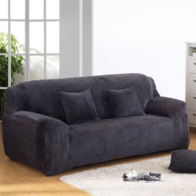 Plush Sofa Slipcover,Fashion Couch Cover, Grey Sofa Cover Sofa Cover/towel  Single