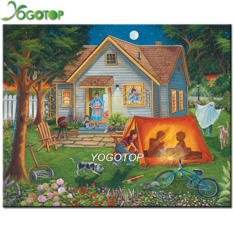 Campground Diamond: YOGOTOP Diamond Embroidery Camping Landscape Full Diamond