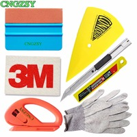 Vinyl Cutting Art Knife Safety Cutter Gloves Sharp Soft Wool Suede Squeegee Car Stickers Application Tools