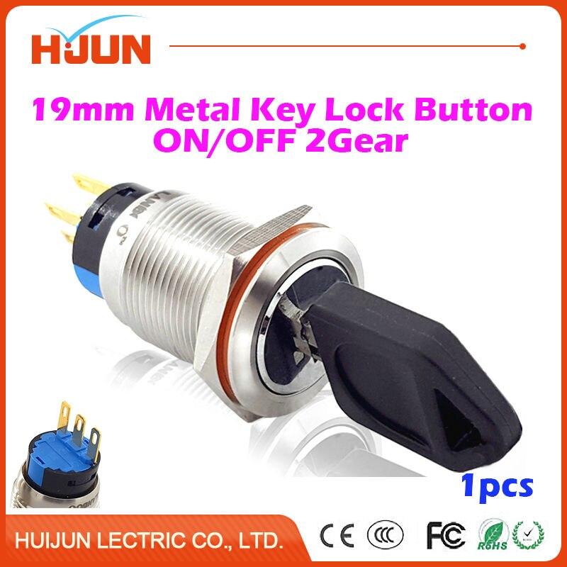 Interruptores e Relés 1 pcs 19mm botão de Interruptor : Interruptor de Botão de Pressão