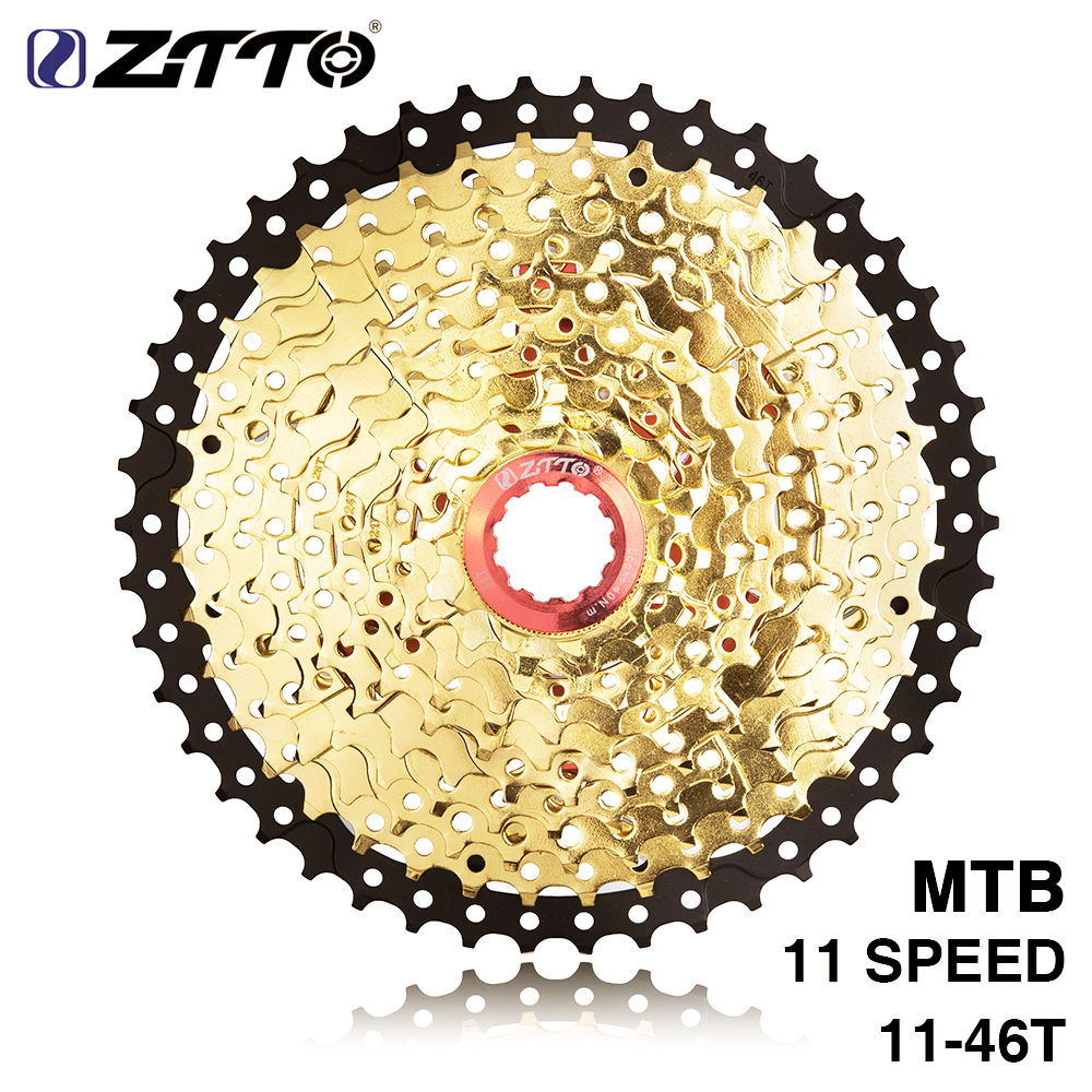 ZTTO 11s 46T SL L Black Gold MTB Mountain Bike Bicycle Parts 11 11v 22s 11 Speed Freewheel Cassette for XT K7 X1 X01 GX NX 1XZTTO 11s 46T SL L Black Gold MTB Mountain Bike Bicycle Parts 11 11v 22s 11 Speed Freewheel Cassette for XT K7 X1 X01 GX NX 1X