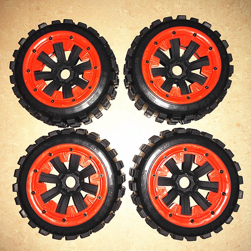 1/5 Buggy Cross country Wheels 4 Set Tires Fit LOSI 5IVE-T DBXL billet rear hub carriers for losi 5ive t