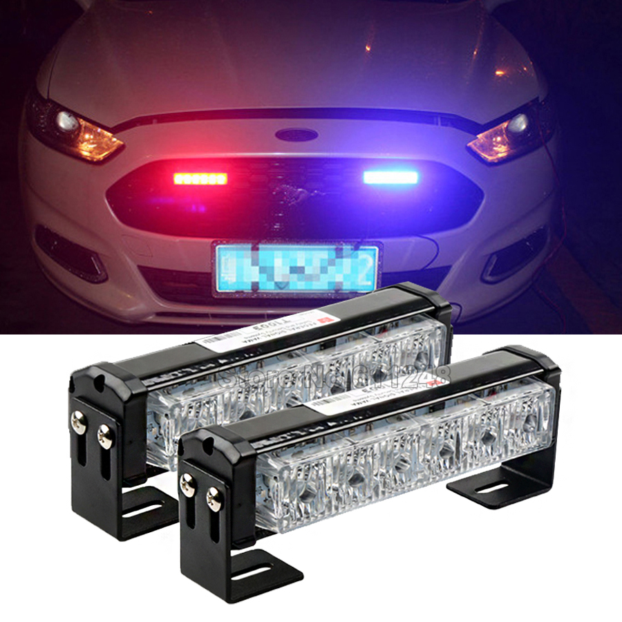 36w 12v Strobe Car Warning Light Truck Motorcycle Led Bar Daytime Running Lights Red Blue White