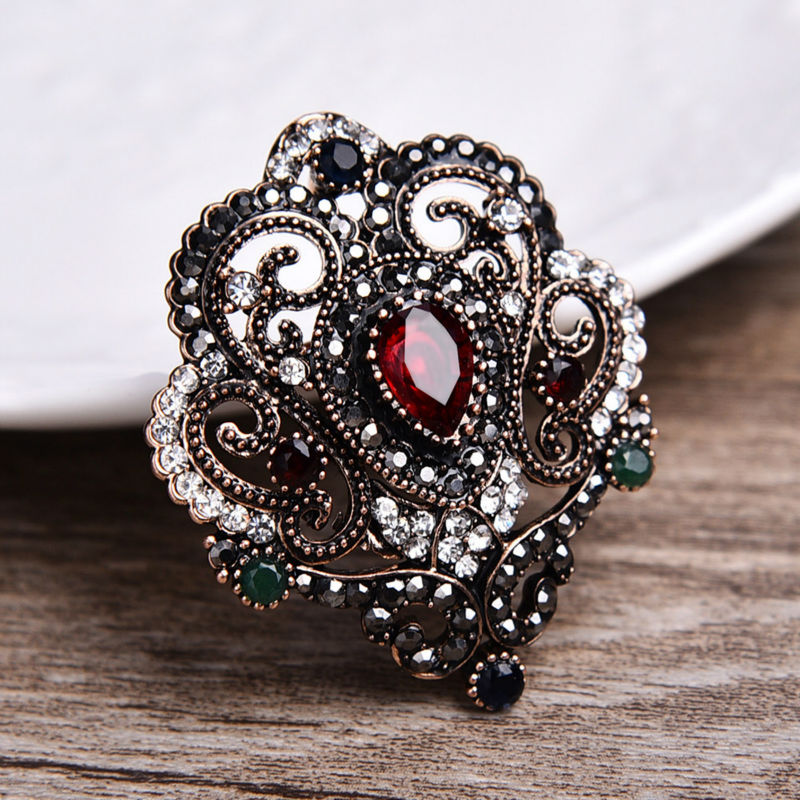Luxury Fashion Women Turkey Brooch Broach Flower Cheap Wedding Pins And Brooches Scarf Clips Wholesale Brand Jewelry Sale Lots