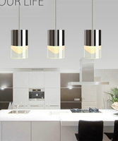 Modern Brief Led 3 6heads Acryl Pendant Light For Dining Room Living Room 15 30w Fashion