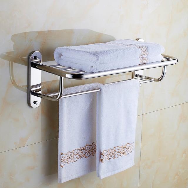 Free Shipping 304 Stainless Steel Bathroom Shelf Hanger Towel Rack