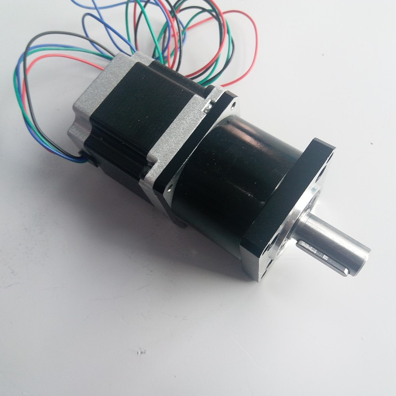 Ratio 10:1 NEMA23  stepper motor with Planetary gearbox reducer Motor length 76mm 1.8NM 3A 4 Wires for CNCRatio 10:1 NEMA23  stepper motor with Planetary gearbox reducer Motor length 76mm 1.8NM 3A 4 Wires for CNC