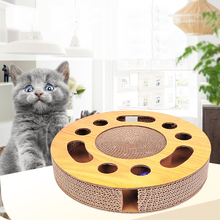 Toy Ball-type Corrugated Paper Cat Scratching Plate Claw Device Funny Toy Turntable Ball Pet Cat Supplies все цены