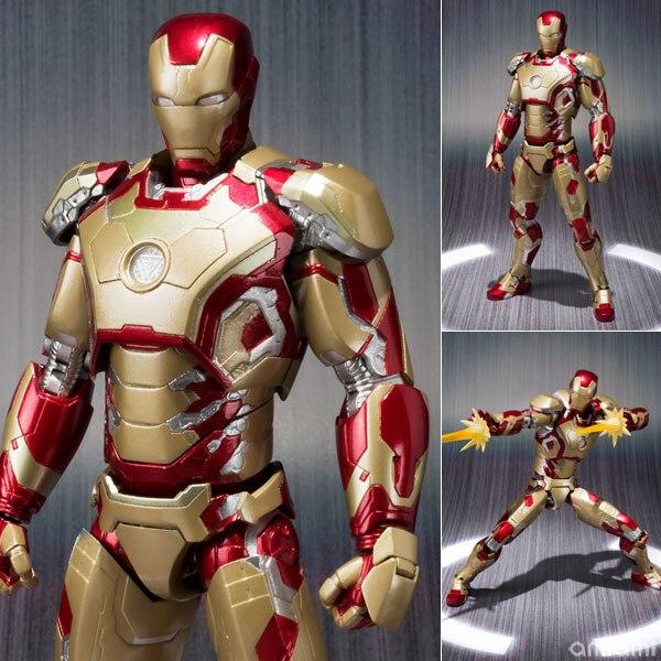 SHFiguarts SHF Ironman MK42 in Marvel Avengers Iron man Action Figures Toys for Children