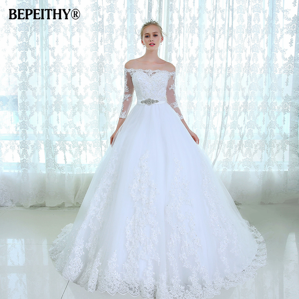 dresses with sleeves for wedding gorgeous lace wedding dress three quarter sleeves vestido 3747