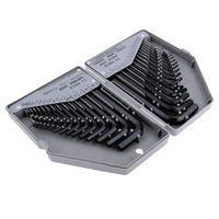 Hand Tools Combination 30pcs Wrench Hex Key Set Long Short Arm with Case Wrench Set Metric and Inch Wrench