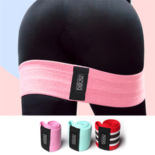 Cotton Hip Resistance band Anti Slip Widen Circle Loop Exercise Elastic Bands For Yoga Workout Stretching Training Fitness Gum