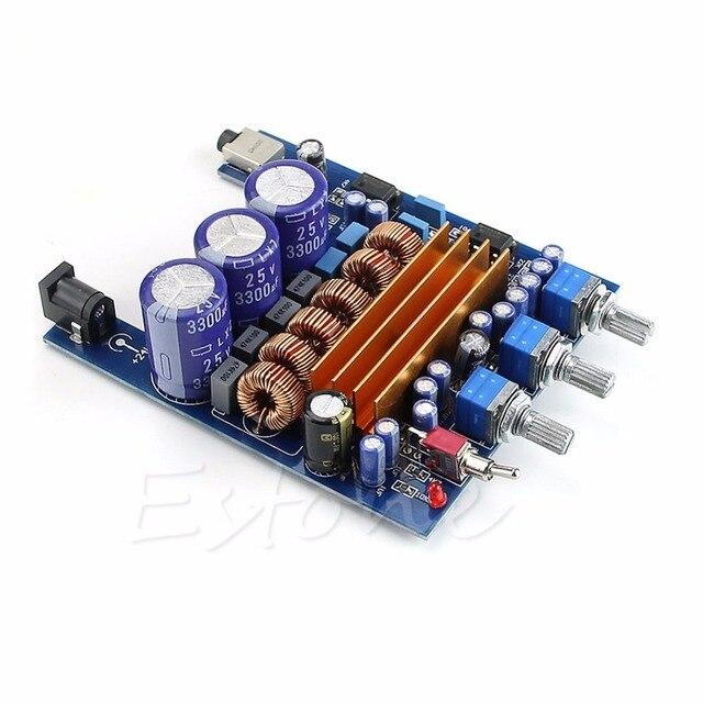 50 W x2 + 100 W Subwoofer Amplificador TPA3116D2 Digital 2.1 de ALTA FIDELIDADE Placa Verst Queda shipoping