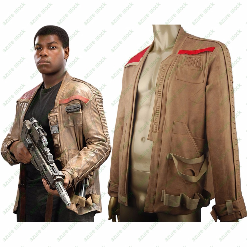 Star Wars VII The Force Awakens Finn Jacket Coat Outfit  Outwear Uniform Cosplay Halloween Costume Daily Use Birthday Xmas Gift