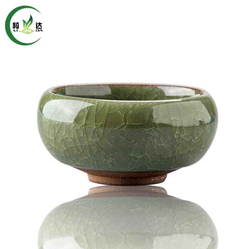 1 Pc Light Green Ice-Crackle Porcelain Tea Cup 30ml Puer Tea Cup Oolong Tea Cup