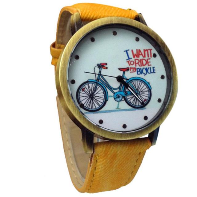 2017 NEW Fashion Unisex Watches Casual Fashion Jean Strap Bicycle Watches L7272