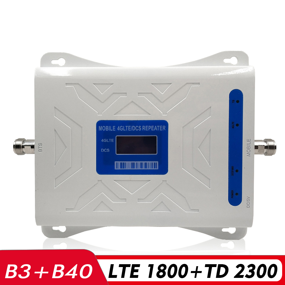 Dual Band Signal Amplifier DCS/LTE 1800+TD LTE 2300 Mobile Signal Repeater (B3)1800+(B40)TDD 2300 2G 4G Cellphone Signal Booster
