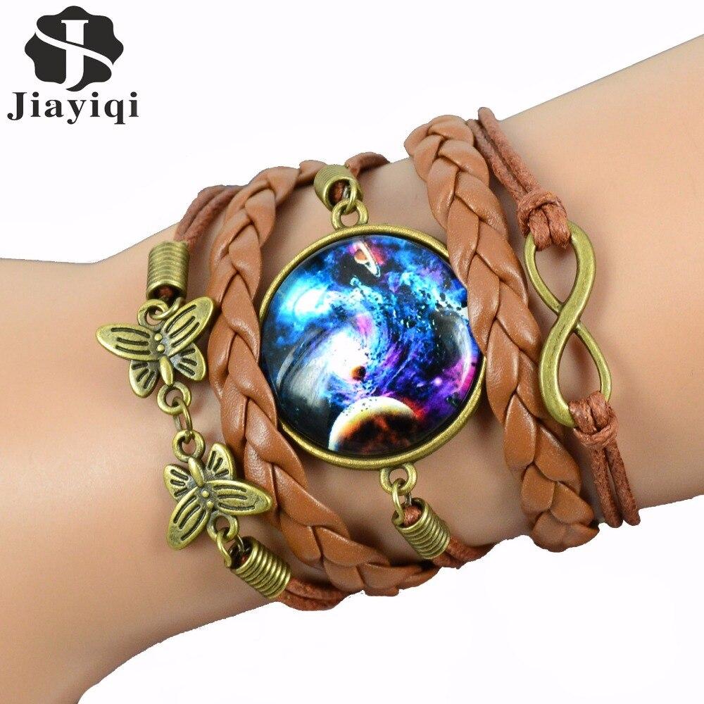 2017 Fashion Leather Bracelet Vintage Wrap Charm Bracelets For Women  Bracelets Bangles Butterfly Cuff Bracelet(