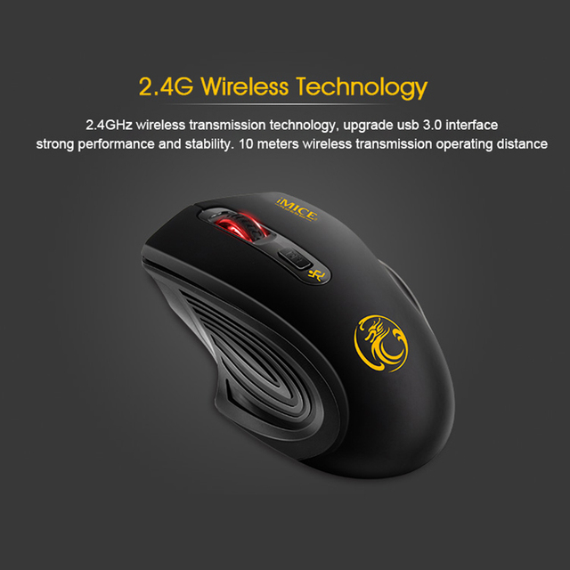 iMice Wireless Mouse 4 Buttons 2000DPI Mouse 2