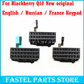 For BlackBerry Q10 original New  Mobile Phone Housing English / Russian Keypad Cover Keyboard Case , Free shipping