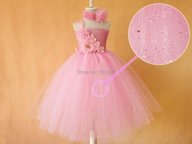 Tienda Online Nuevo brillo vestido tutú rosa para las niñas hecho a ...