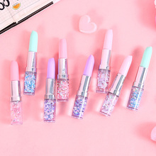 Novelty Quicksand Lipstick Gel Pen for Girl Office Lady Lipstick Pen as Personalized Sign Pen 20pcs/lot pentel s520 design sign pen hand painted cartoon drawing pen 20pcs lot