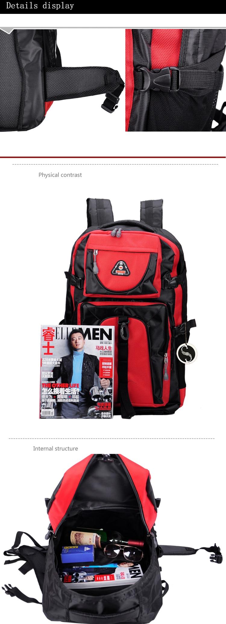 17 Senkey style 60L Large-capacity Travel Backpack Men Women Fashion Backpack To Casual Waterproof Laptop Student school Bag 7