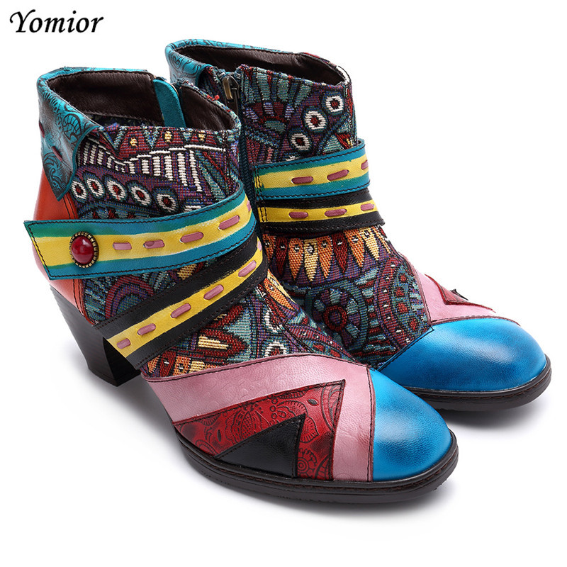 New Fashion Handmade Genuine Leather Women Wedges Ankle Boots Female Spring High Heel Round Toe Dress Work Boots Big Size ShoesNew Fashion Handmade Genuine Leather Women Wedges Ankle Boots Female Spring High Heel Round Toe Dress Work Boots Big Size Shoes
