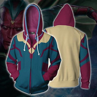 The Avengers Avengers: Endgame Cosplay Vision Anime Hoodie Costume Sweatshirt Jacket Coats Men Women New