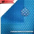 HMN ESPORTE 2017 Nova 1 PCS Azul Natação Cobertura Da Piscina 400 Micron 12-mil Cobertor Solar Personalizado Tamanho e Forma Fácil Quadro piscinas