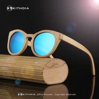 KITHDIA Bamboo Polarized Sunglasses Men Wooden Sun Glasses Women Brand Designer Original Wood Glasses Oculos De