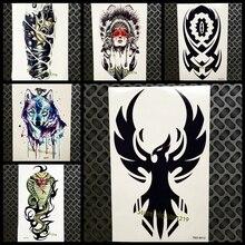 Black Eagle Flying Totem Temporary Tattoo Phoenix Nirvana Waterproof Tattoo Men Body Art Arm Sleeve Armband Tatoo Sticker Decals