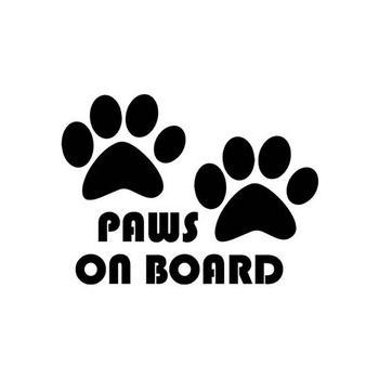 Cute Dog Paw Reflective Car Truck Vehicle Body Window Decals Sticker Decoration 2