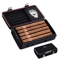 CIGARLOONG Cigar box moisturizing portable waterproof humidly cigar scissors set cigar case 10 CH 3001