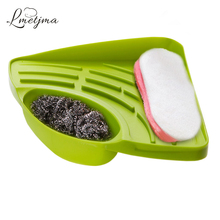 LMETJMA Kitchen Sink Corner Storage Rack Sponge Holder Cleaning Brush Holder Bathroom Soap Cleaning Ball Holder KC0325-6
