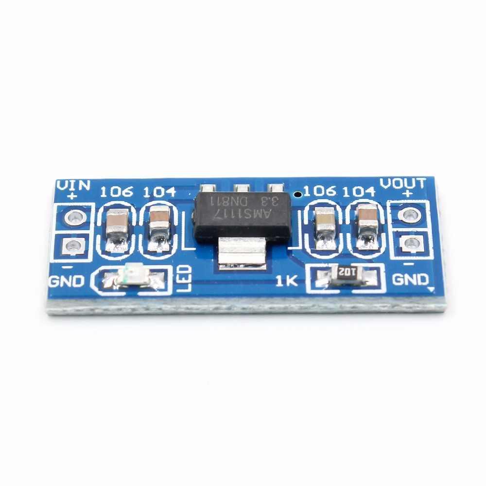Alta qualidade lm1117 ams1117 4.5-7 v transformar 3.3 v DC-DC step down módulo de fonte de alimentação bluetooth raspberry pi