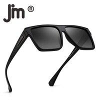 JM Ретро Винтаж поляризационные солнцезащитные очки для женщин для мужчин Flat Top квадратный рамки вождения